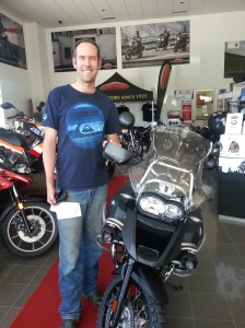 Adie gets a bike - a BMW 1200 GSA!