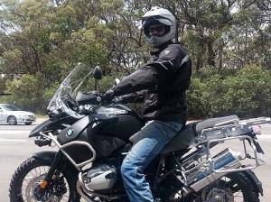 Adrian on motorbike