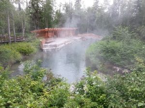 Sulphur hot springs in Liard