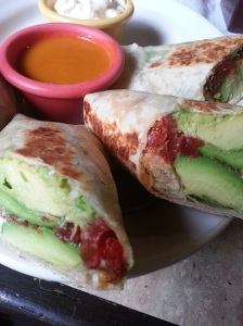 Avocado burrito