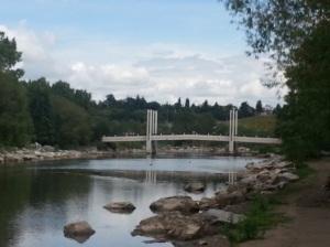 bridge crossing to Prince's Island Park Calgary
