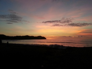 Sunset over the beach in Sayulita, Mexico