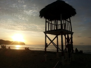 Sunset over the beach, Sayulita Mexico