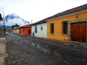 Brightly coloured houses in Antigua