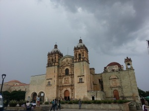 One of the cathedrals in Oaxaca