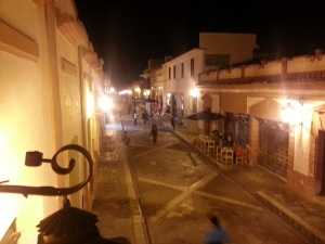 One of the pedestrian streets in the old town, San Cristobal