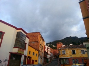Colourful buildings in Bogota old town