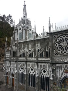 A gothic cathedral in Colombia