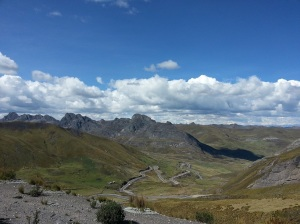 The road through the mountains... very windy,and in surprisingly good condition!