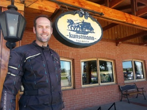 Adrian standing outside the Kunstmann brewery