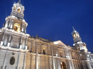 On the main square in Arequipa