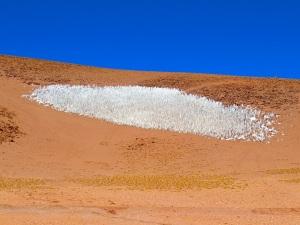 Ice floes in the Atacama desert