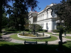 One of the many historical buildings in Santiago
