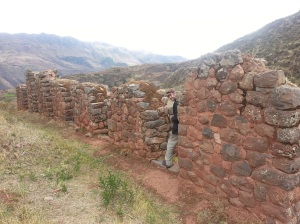 Adrian at the ruins at Tipon